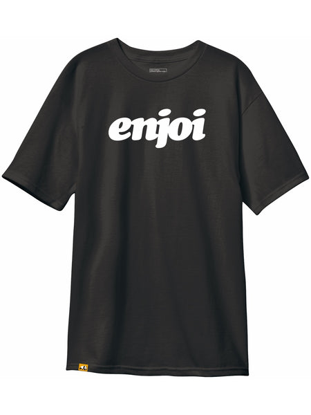enjoi flocked custom dye vintage black short sleeve premium tshirt