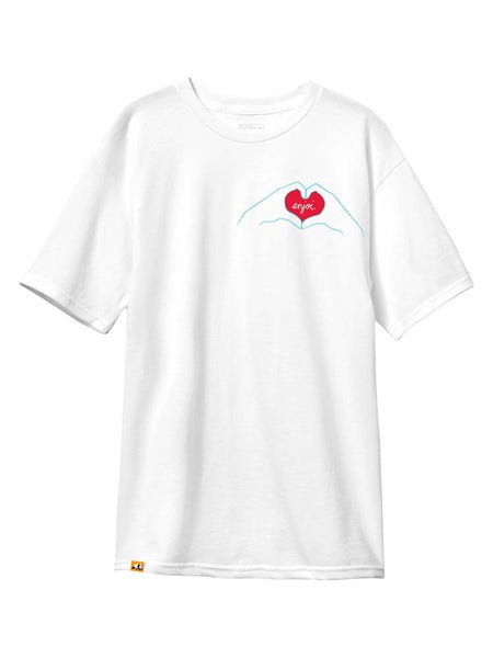 enjoi Heart Hands Standard White Short Sleeve T-Shirt