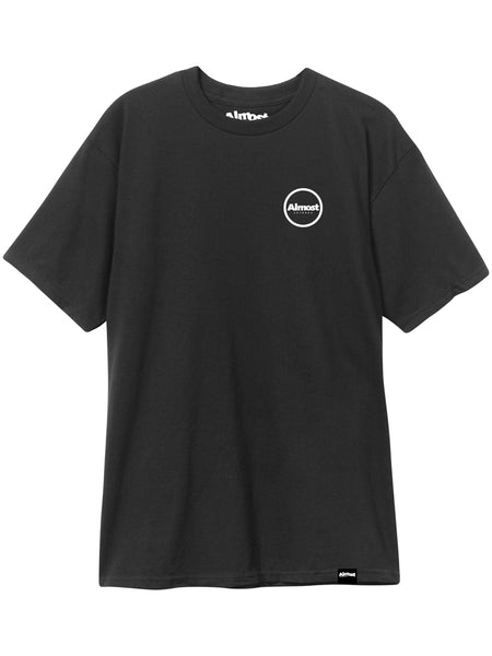 Almost Circle Logo Black S/S Tee