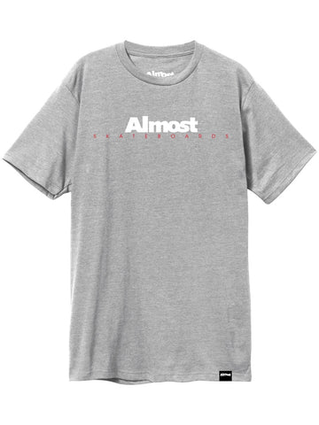 Almost Classic Logo Heather Grey Premium T-Shirt