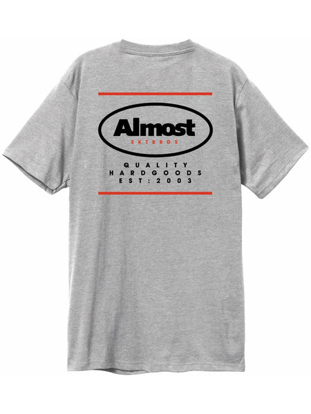 Almost Quality Heather Grey Short Short Sleeve Tshirt