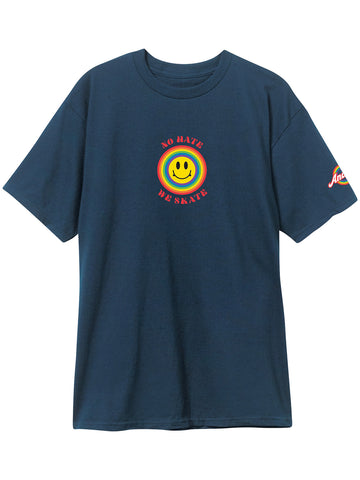 Andale NO HATE WE SKATE Smiles Midnight Navy Short Sleeve Tshirt