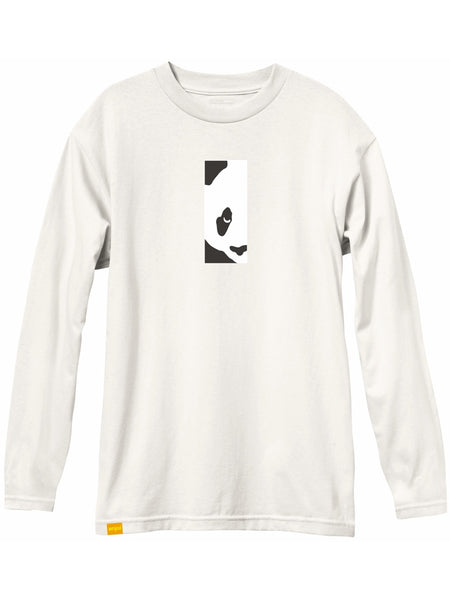 enjoi box panda custom dye bone white long sleeve premium tshirt