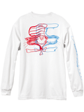 Almost Warped Cat Long Sleeve White L/S Tee