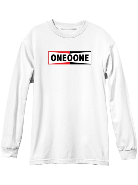 101 Logo Sparks Long Sleeve White L/S Tee