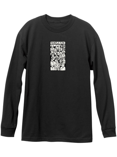 New Deal Templeton Black Long Sleeve Tee