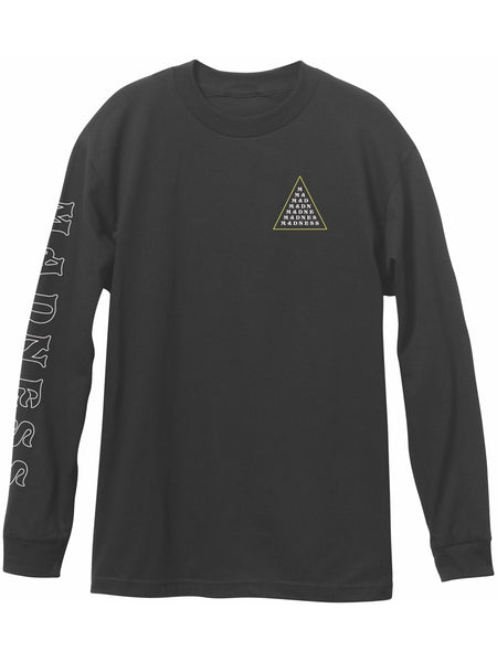 MADNESS Triangle Line True Black Long Sleeve T-Shirt