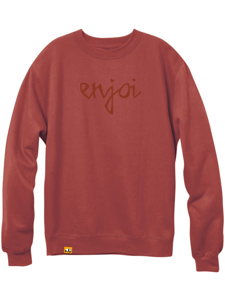 enjoi Car Crash Brick Red Premium Crew Sweatshirt