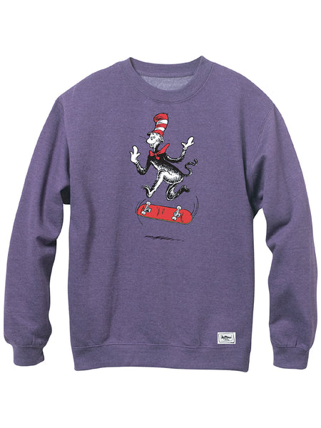 Almost Cat Tre Dr Seuss Purple Crew Shirt