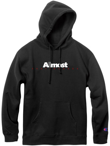 Almost Classic Logo Black Champion Pullover Hood