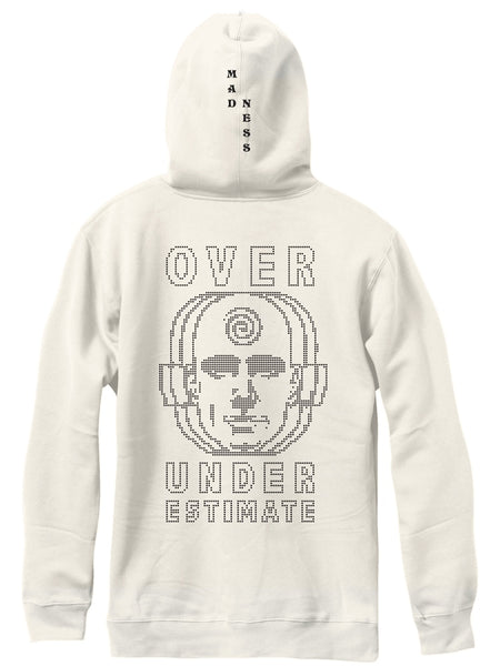 MADNESS  Over Under Premium Custom Dye Bone White Pull Over Hoodie
