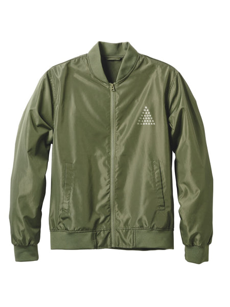 MADNESS Pyramid Army Green Bomber Jacket