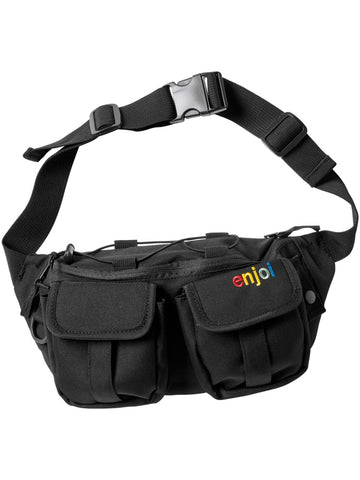 enjoi hip egg bag black fanny pack