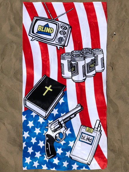 Heritage Limited Edition Blind American Icons Beach Towel