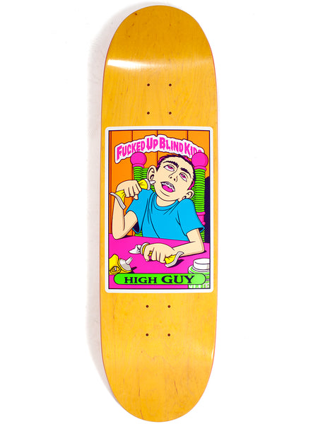 Blind Heritage Fucked Up Blind Kids NEON High Guy 9.0 Skateboard Deck