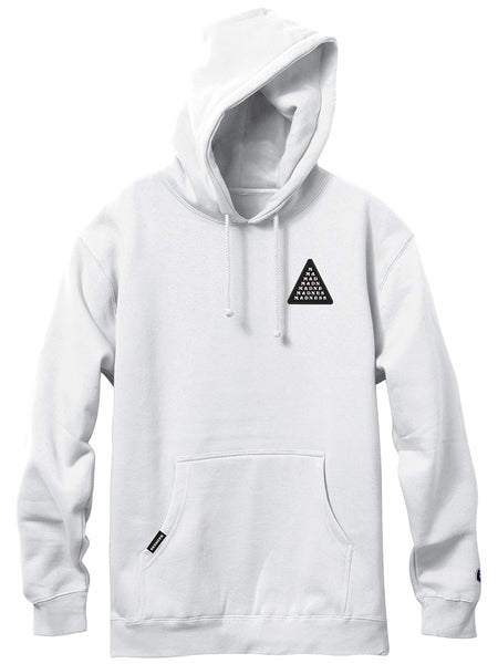 MADNESS Pyramid White Pullover Hoodie