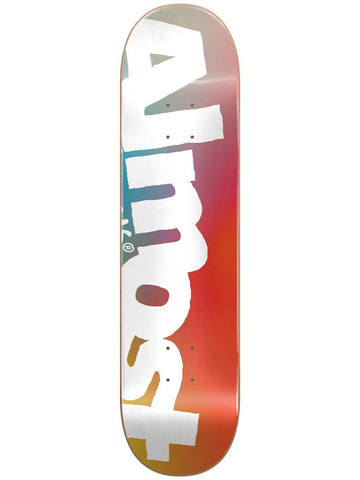 Almost Side Pipe Blue/Red/Yellow 8.5 Skateboard Deck