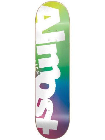 Almost Side Pipe Green/Blue/Pink 8.25 Skateboard Deck