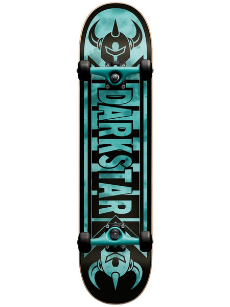 Darkstar Faded Tie Dye/Aqua 7.375 First Push Premium Complete Skateboard MID