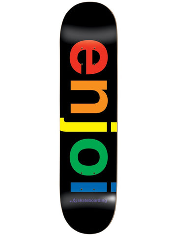 enjoi Spectrum Black 8.0 & 8.25 Skateboard Deck