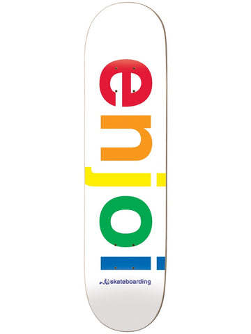 enjoi Spectrum White 7.75 & 8.0 Skateboard Deck