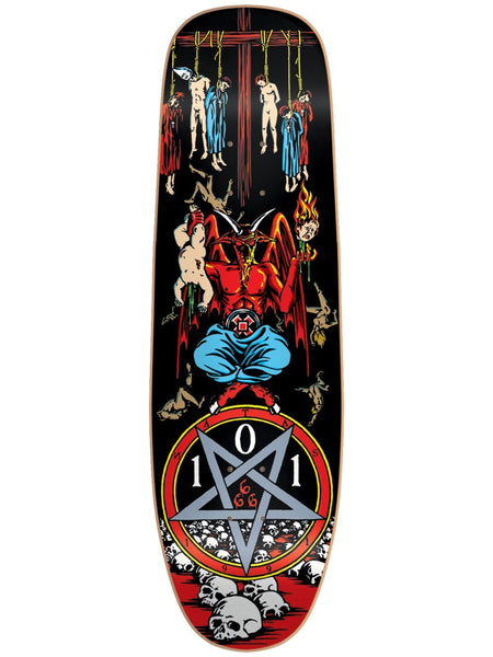 Heritage 101 Natas Kaupas Devil Worship Screen Printed 9.625 R7 Skateboard Deck