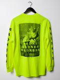 MADNESS Trickle Down Safety Green Long Sleeve T-Shirt