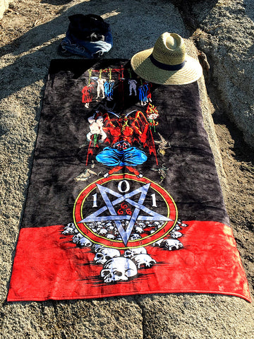 Heritage 101 Natas Kaupas Devil Worship Beach Towel LTD EDT