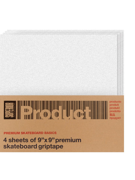 Superor Product Clear Grip Tape 4 Pk 9x9 Squares.