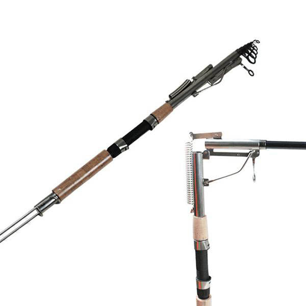 Automatic Fishing Rod High Strength Telescopic Hybrid Carbon Fiber Pole with Holder for Sea Fishing