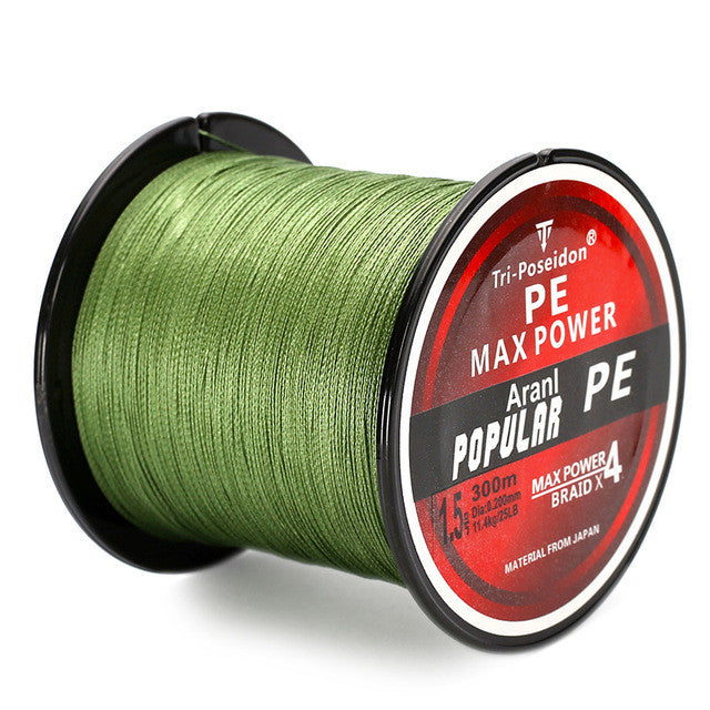 Tough Durable Braided Wire Fishing Line 4 Strands Multifilament