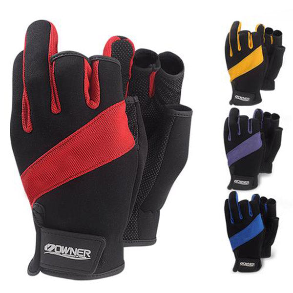 Anti-slip Fishing Gloves Anti-cut With Imported Sheepskin Fingerless  With Cut Three