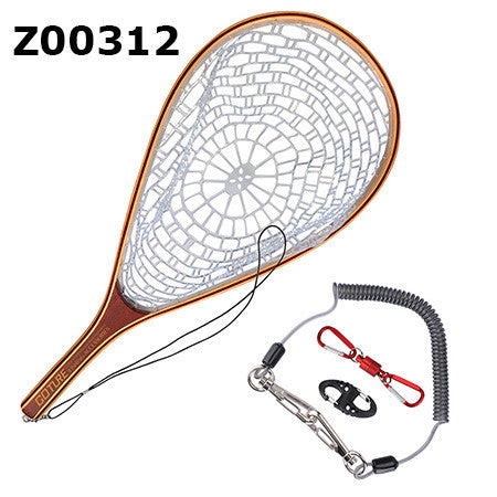 Fly Fishing Wooden Frame Hand Net
