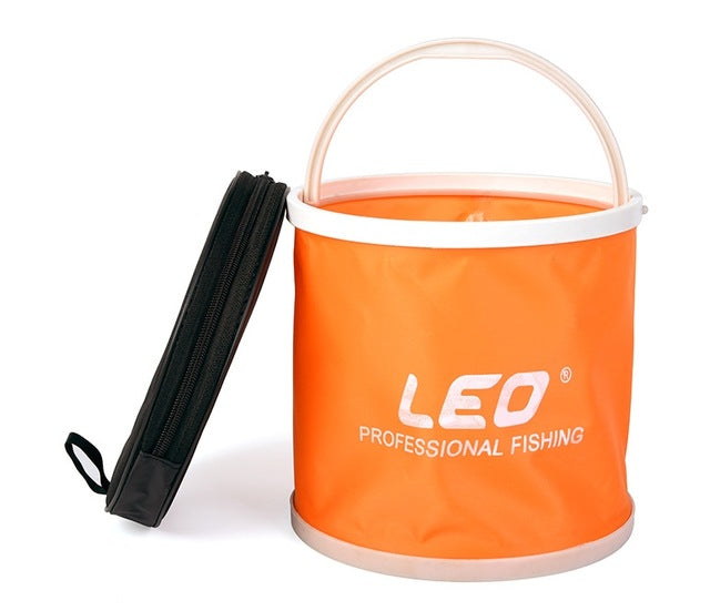 Fishing Hiking Folding Bucket Outdoor Portable Car Washing Camping Collapsible Barrel 5L