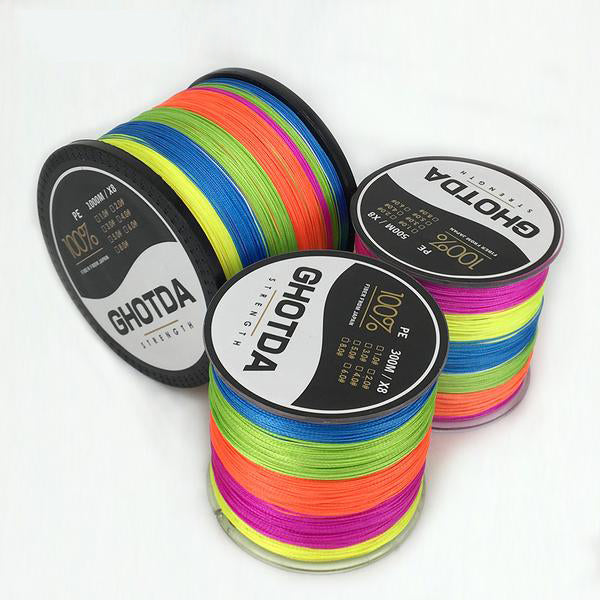 Fishing Line Pesca Braided Multifilament 8 Strands 20lb-100lb Sea Saltwater Freshwater