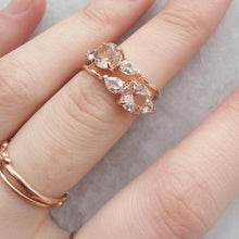 Aeriel Ring, Morganite & White Sapphires