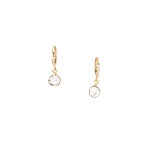 Petite Matrix Hoops, Diamond Slices