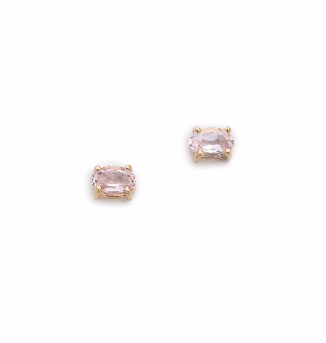 Gaia Stud Earrings, Morganite