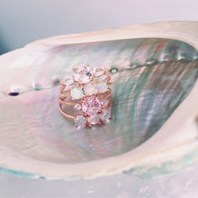 Ambrosia Ring, Peach & Pink Sapphires