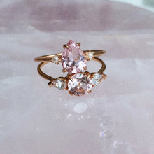 Rosalie Ring, Morganite & Pearls