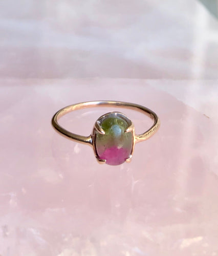 Nectar Ring, Watermelon Tourmaline