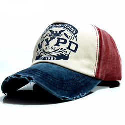 Worn-look Fitted Baseball Cap with snap-back