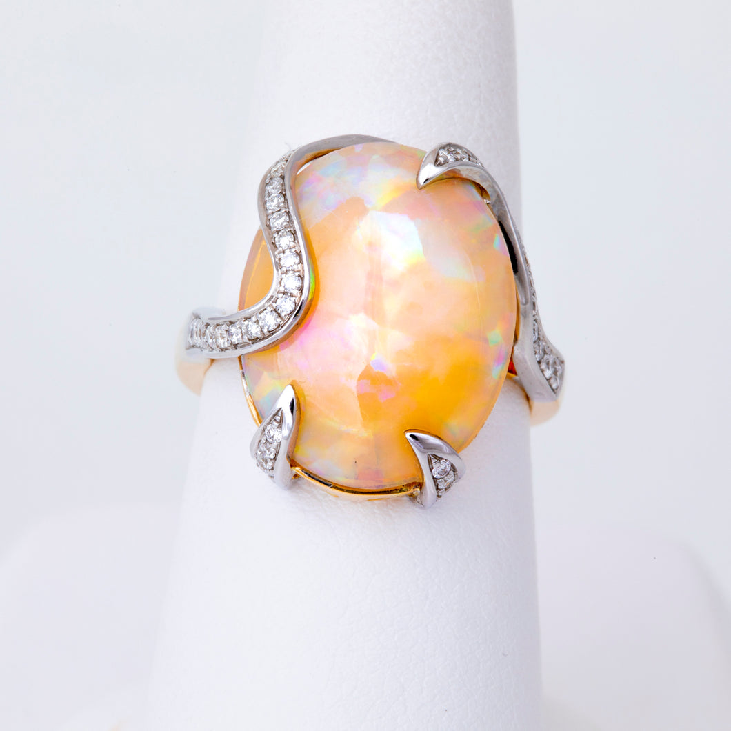 Oval-Shaped Opal Ring
