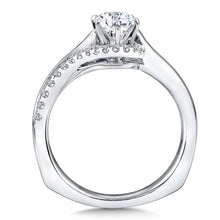 Embracing Polished and Diamond Band Wedding Set