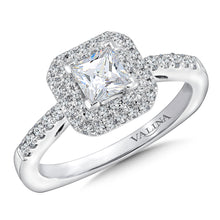 Double Halo & Pave-Set Diamond Wedding Set