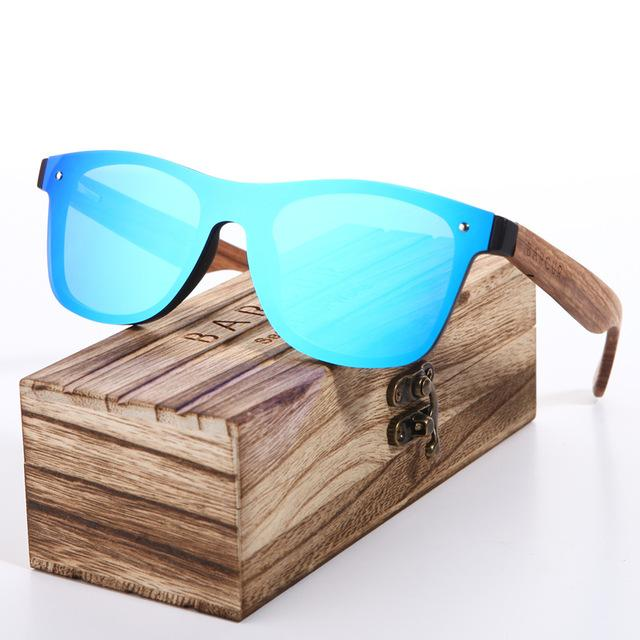 Bamboo wood arm sunglasses addition in mens fashion