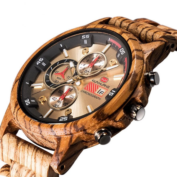 Zebra Exquite  Men's Dress Wood Watches - WR1009