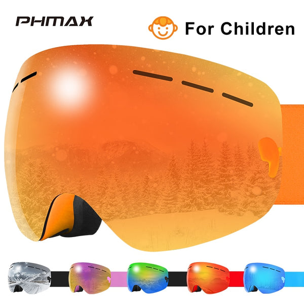 Kids Ski Goggles Winter Anti-Fog Double-Layer Snowboard Goggles