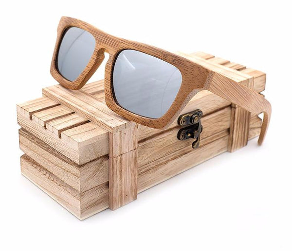 Style No. WS10038 - Wooden UV400 Lens Sunglasses with Wooden Case