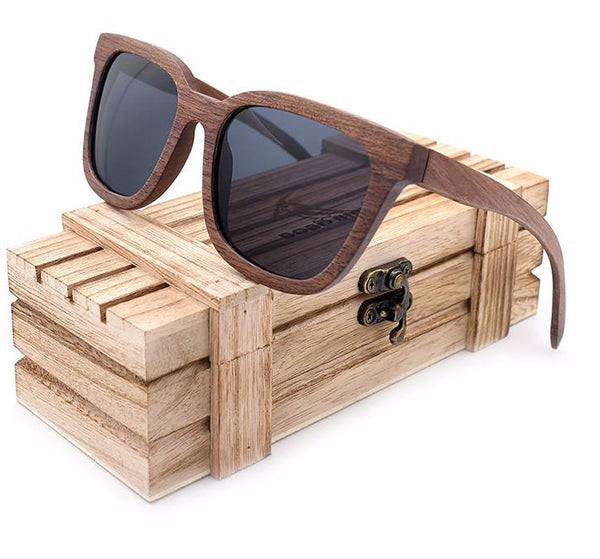 Black Walnut Wood Sunglasses - WS10049